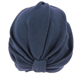 Turban Chemotherapy Cotton Blue Marine- Traclet