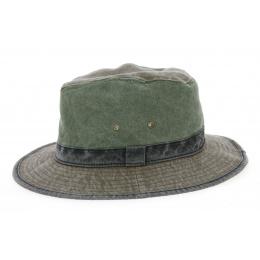 Safari Hat Logan Cotton Olive & Brown - Traclet