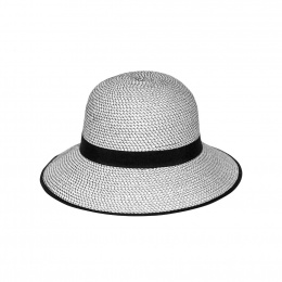 Anna Bell Hat Black & White- Emthunzini Hats