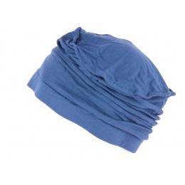 Toque Femme Chimiothérapie Bambou Bleu Délavé- Mtm
