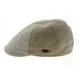 Beige Linen & Cotton Beige Patchwork Cap - Traclet