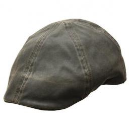 Merrick Newsboy Brown Cotton Flat Cap - Conner Hats
