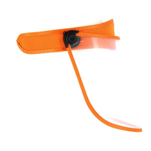 Visière Protège-Visage PVC Orange- Traclet