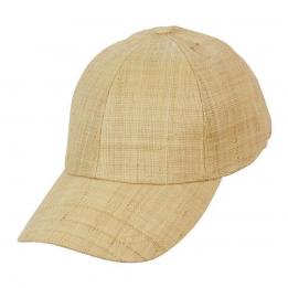 Casquette Baseball Paradise Raphia & Coton Naturel- Conner Hats