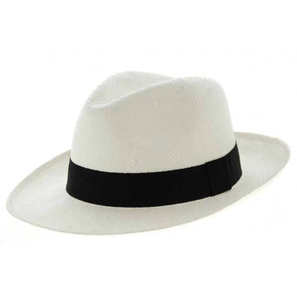 Chapeau Fedora Gela Paille Blanc- Traclet