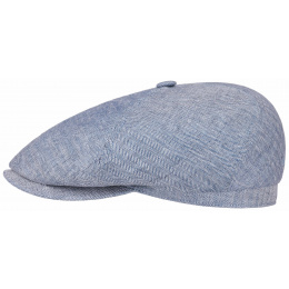 Brooklin Queens Light Blue Linen Cap - Stetson