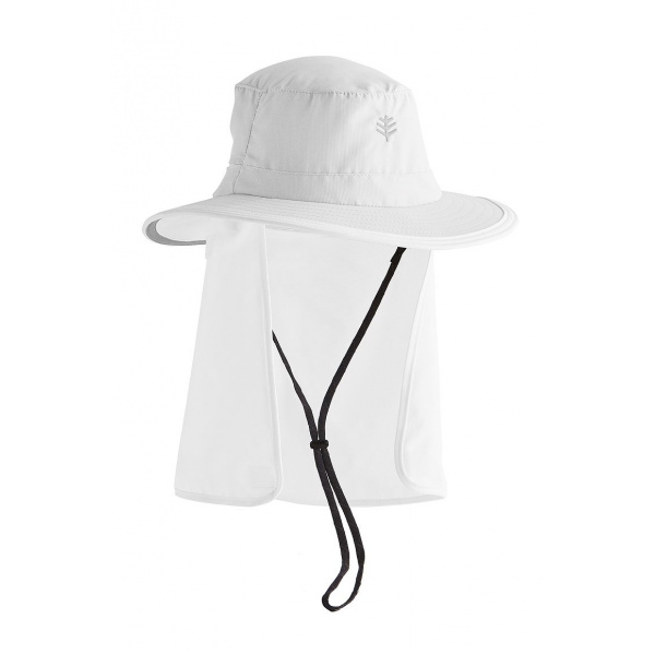 Chapeau Convertible Boating UPF 50+ Blanc- Coolibar