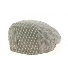Enrique Linen & Cotton Taupe Traclet cap