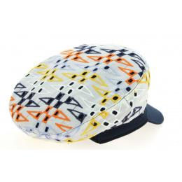 Patricia Cotton Multicoloured Navy Cap - Traclet