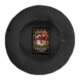 Béret  Authentique Été Coton Noir- Héritage par Laulhère