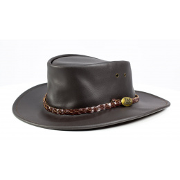 CHAPEAU AUSTRALIEN ADVENTURE OIL Marron
