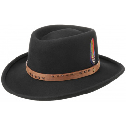 Gambler Hat Wool Felt Black - Stetson