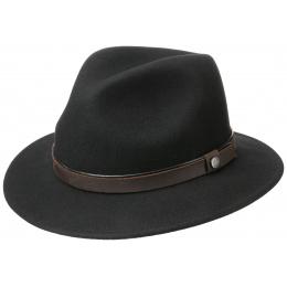 Chapeau Traveller Feutre Laine Noir- Traclet
