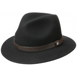Traveller Hat Wool Felt Black- Traclet