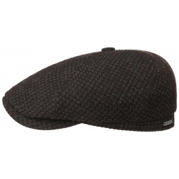 Brooklin Wool & Cotton Brown & Black Cap - Stetson