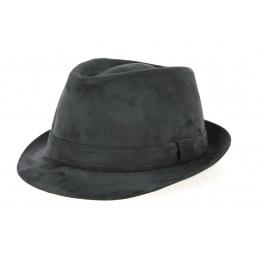 Chapeau Trilby Imitation Alcantara Noir- Crambes