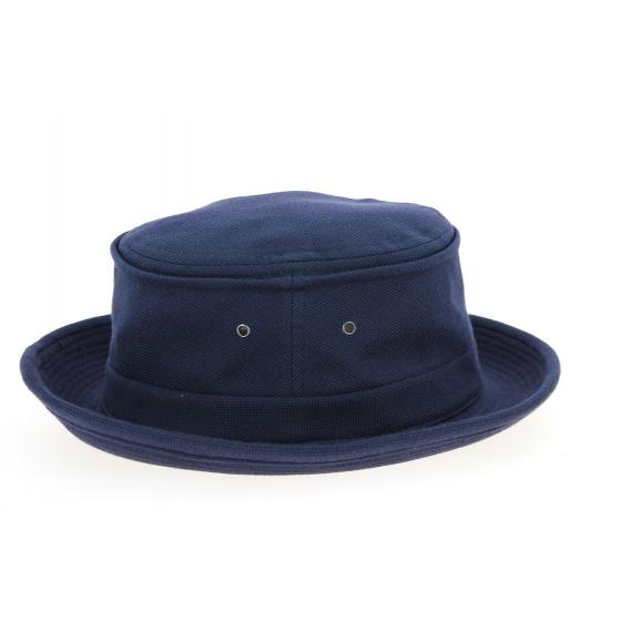 Porkpie Beach Hat Navy Cotton Spade Hat - Crambes
