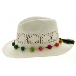 Panama Hat Sugar Fancy White Sugar Panama Hat - Traclet