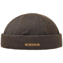 Winter Docker Hat Winter Cotton Aged Brown - Stetson