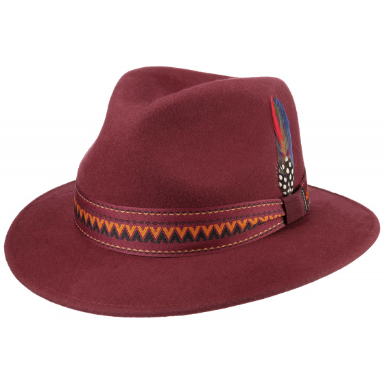 Traveller Hat Wool Felt Bordeaux- Stetson