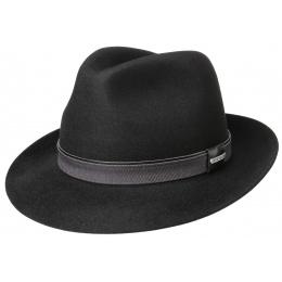 Fedora Bogart Felt Hat - Black - Stetson