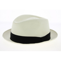 Chapeau Porkpie Panama Blanc - Traclet