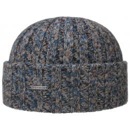 Bonnet à Revers Cachemire Bleu & Vert- Stetson