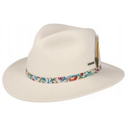 White Wool Felt Traveller Hat - Stetson
