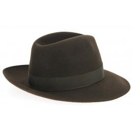 Umberto Hat Felt Brown Hair - Borsalino