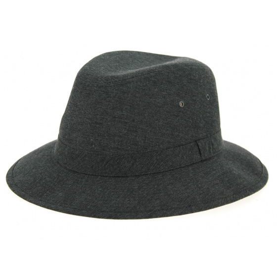 Chapeau Safari Chambray Noir Coton- Crambes