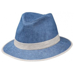 Chapeau Safari Melito Duelin bleu - Naturel