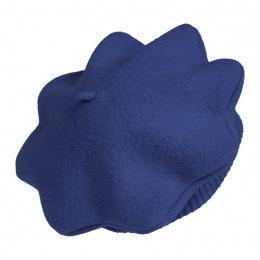 Polisson Child Beret Wool Merino Blue Night - Heritage by Laulhère