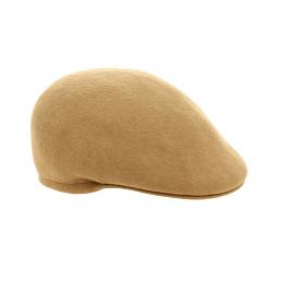 Camel wool felt cap