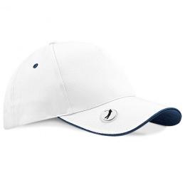 Casquette Golf Pro-Style Blanc & Noir Coton - Beechfield