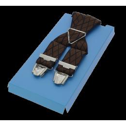 Bretelle Large Rayure - Marron