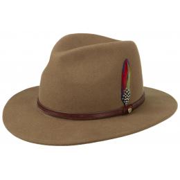 Chapeau traveller Rantoul marron beige - Stetson