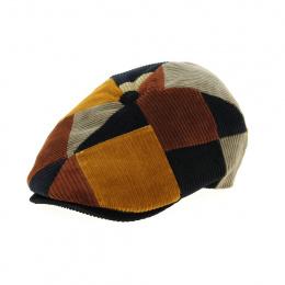 velvet patchwork cap