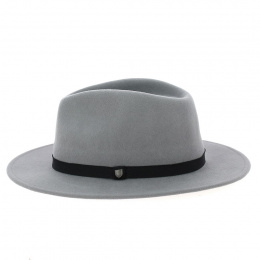messer fedora hat in grey wool- Brixton