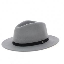 chapeau Messer fedora en laine gris- Brixton