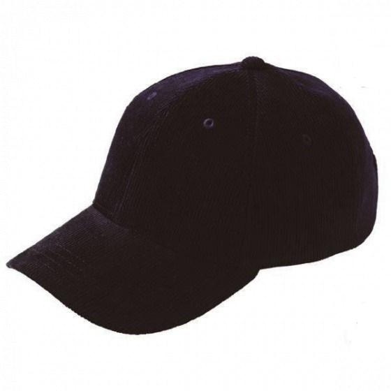 Casquette baseball - Velours noir