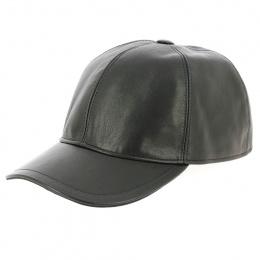 Casquette cuir noire