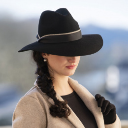 Juliette black felt floppy hat