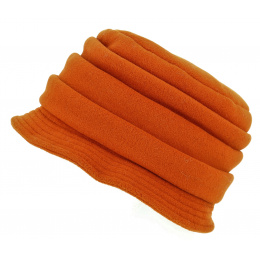 Chapeau Cloche Polaire Anushka Orange - Traclet