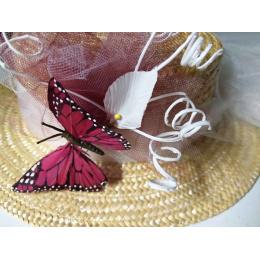 Canotier Papillon Sauvage / Création Unique par les Ateliers de la Chapellerie TRACLET