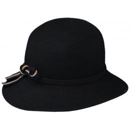 Chapeau Cloche Milan Feutre Noir  - Traclet