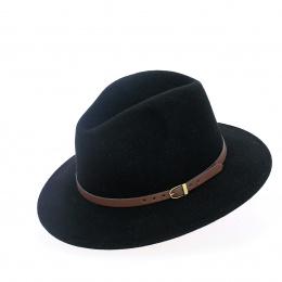 Chapeau traveller en laine noir