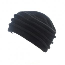 Black fleece hat -Traclet
