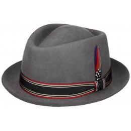 Trilby Diamond Felt Hat Grey - Stetson