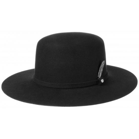Chapeau Amish Feutre laine Noir  - Stetson