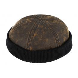 Bonnet Docker Pissot Coton Marron & Noir- Traclet